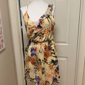 Like New. ASTR Nordstrom Dress, Yellow Floral